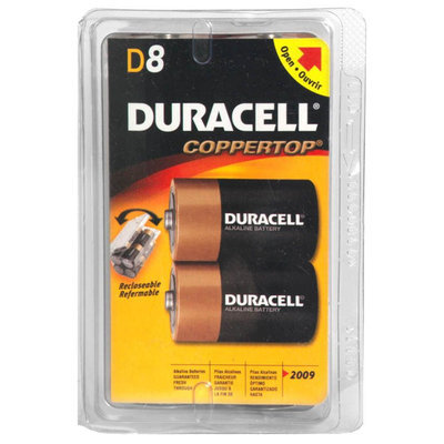 Duracell MN13RT8Z Coppertop Alkaline Batteries D 8 Pack