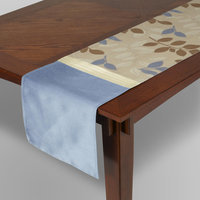Textiles From Europe, Inc. Table Runner - Blue Leaf