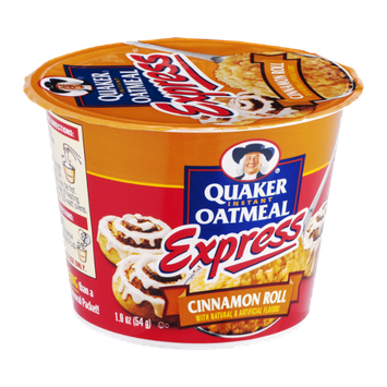 Quaker® Instant Oatmeal Express Cinnamon Roll