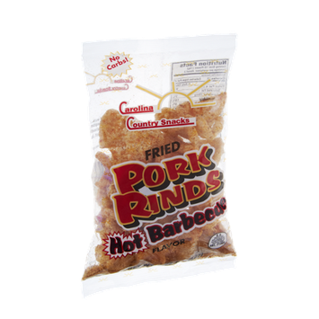 Carolina Country Snacks Hot Barbeque Fried Pork Rinds