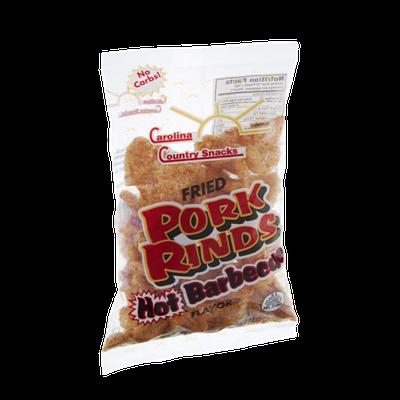 Carolina Country Snacks Hot Barbeque Fried Pork Rinds
