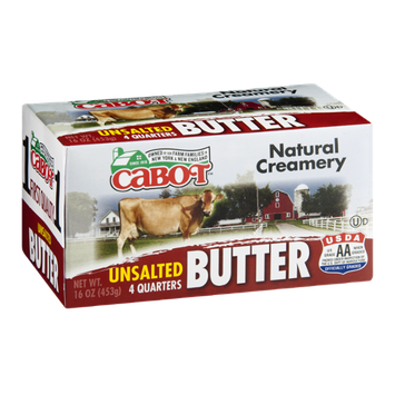 Cabot Butter Unsalted - 4 CT