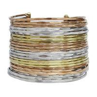 Lustrasilk Luxury Gold Tone Metal Cuff Bracelet