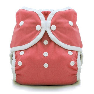 Thirsties Duo Wrap Snap, Rose, Size Two (18-40 lbs)