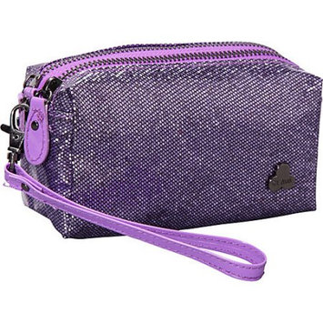 Clava Jazz Glitter Cosmetic Pouch Purple - Clava Ladies Cosmetic Bags