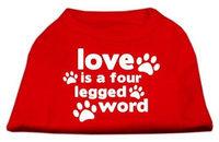 Ahi Love is a Four Leg Word Screen Print Shirt Red XXL (18)