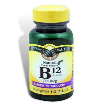 Spring Valley - Vitamin B-12, 1000 mcg, 60 Tablets