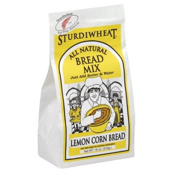 Sturdiwheat Cornbread Mix Midwestern Lemon, 18-Ounce (Pack of 4)