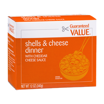 Guaranteed Value Shells & Cheese Dinner