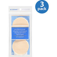 Beauty Accessories Dicon Technologies Professional Round Compact Replacement Sponges