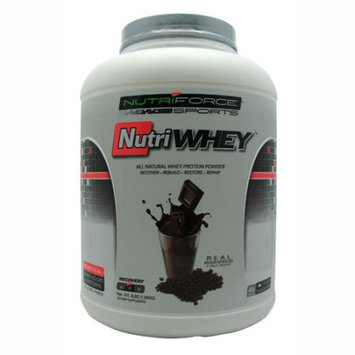 NutriForce Sports - NutriWhey All Natural Whey Protein Powder Belgian Chocolate - 4 lbs.