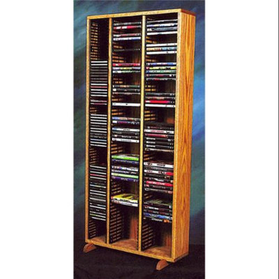 Wood Shed 24 in. Media Storage Tower w Individual Locking Slots (Clear)