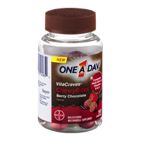 One A Day VitaCraves ChewyBites Multivitamin/Multimineral Supplement Berry Chocolate - 50 CT