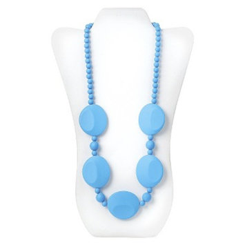 Nixi by Bumkins Pietra Silicone Teething Necklace - Blue