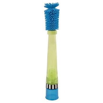 Sassy No Scratch Bottle Brush, Blue & Green, 1 ea