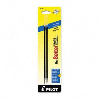 Pilot Refill, EasyTouch Nonretract Ballpoint, Fine, Blue
