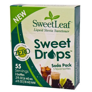 SweetLeaf Liquid Stevia Sweet Drops, Soda, 3 ea
