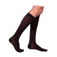 Sigvaris 860 Select Comfort Series 20-30mmHg Women's Closed Toe Knee High Sock Size: M4, Color: Black Mist 14