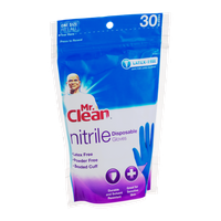 Mr. Clean Nitrile Disposable Gloves - 30 CT