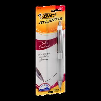 BIC Atlantis Ultra Comfort Medium Ball Pen Black Ink