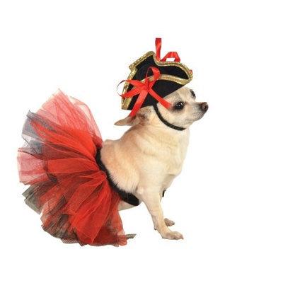 Rubies Dog Tutu Skirt Size: Medium / Large, Color: Red / Black