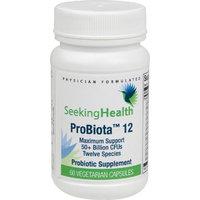 ProBiota 12 Capsules | 60 Vegetarian Capsules | Broad-Spectrum Probiotic Support | 12 Strains | 50+ Billion CFU's per Serving | Physician-Formulated | Seeking Health