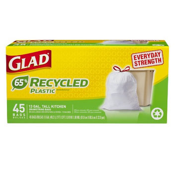 Glad Tall Kitchen 65% Recycled Plastic Drawstring Garbage Bags