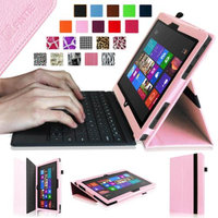 Fintie Folio Leather Case Cover for Microsoft Surface RT / Surface 2 10.6 inch Tablet, Pink