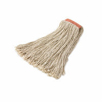 Rubbermaid Commercial Products 8-Ply Cut-End Cotton Mop Head 1'' Orange Headband in White