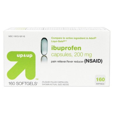 up & up up&up Ibuprofen Pain Reliever and Fever Reducer Sofgels - 160 Count
