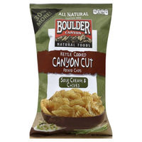 Boulder Canyon All Natural Gluten Free Potato Chips Sour Cream & Chives - 6.5 oz