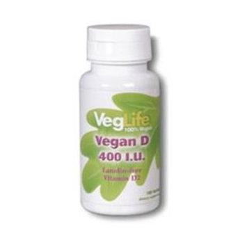 Country Life Vegan Vitamin D-400 VegLife 100 Tabs