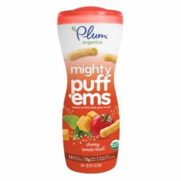 Plum Organics Mighty Puff'ems, Cheesy Tomato Basil, 1.5 oz