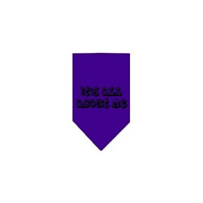 Ahi It's All About Me Screen Print Bandana Purple Small