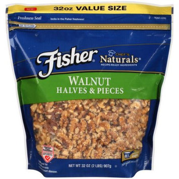 Generic Fisher Chef's Naturals Halves & Pieces Walnuts, 32 oz