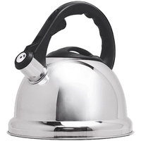 Primula Safe-T 3 qt Stainless Steel Whistling Kettle, Polished