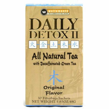 Wellements Daily Detox II All Natural Tea Original 30 Sachet