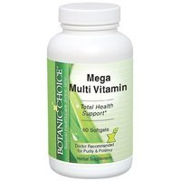 Botanic Choice Mega Multi Vitamin Soft Gels, 30 Count (Pack of 2)