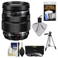 Olympus M.Zuiko 12-40mm f/2.8 PRO ED Digital Zoom Lens (Black) with Tripod + 3 UV/CPL/ND8 Filters Kit