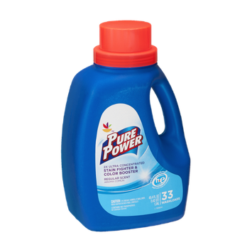 Ahold Pure Power Stain Fighter & Color Booster 2x Ultra Concentrated Regular Scent - 33 Loads