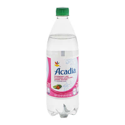 Acadia Sparkling Spring Water Raspberry Lime
