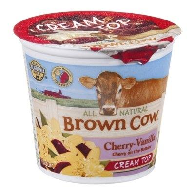 Brown Cow Cream Top Yogurt Cherry-Vanilla All Natural