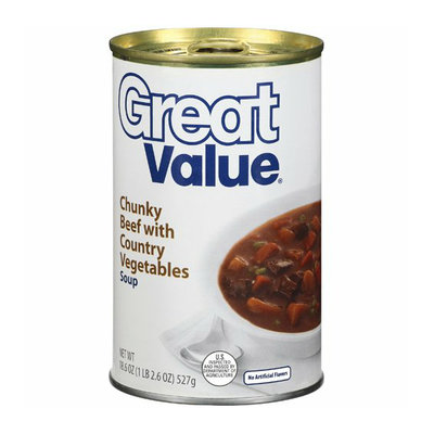 Great Value : Chunky Beef With Country Vegetables Soup