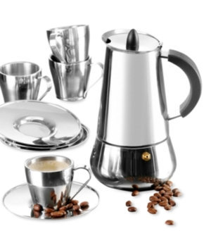 Imusa IMUSA Stainless Steel 9 Piece Espresso Set