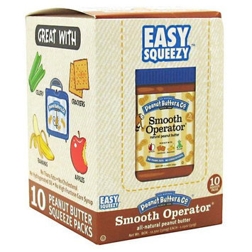 Peanut Butter & Co, Easy Squeezy Smooth Operator Squeeze Packs - 10 pk