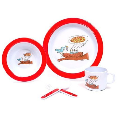 Silly Souls New Yorker 5 Piece Dish Set, Pizza, 3T (Discontinued by Manufacturer)