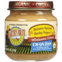 Earth's Best Organic Banana Apricot Barley Yogurt, 4 Ounce Jars (Pack of 12)