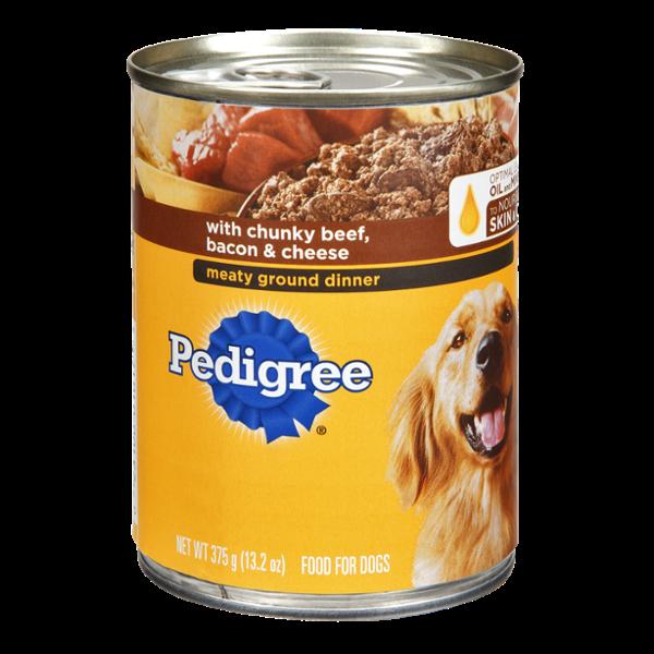 Pedigree Chunky Beef, Bacon & Cheese Dog Food Dinner