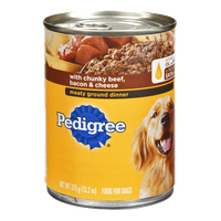 Pedigree® Chunky Beef, Bacon & Cheese Dog Food Dinner