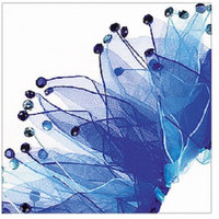Digpets CH77127XS Party Collar - Light & Dark Blue Rhinestone Extra Small